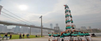 @verds al Pont de de Brooklyn via @Aletadirecte #castellers