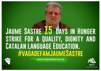 Jaume Sastre, 15 days in Hunger Strike @vagadefam for a decent, quality education in Catalan pic.twitter.com/nrFtlPv0fU