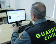 guardia civil, ordinador, agent