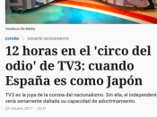 Captura de pantalla de l'article de 'El Español'